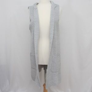 Other - Sleeveless Knitted Duster with Pockets